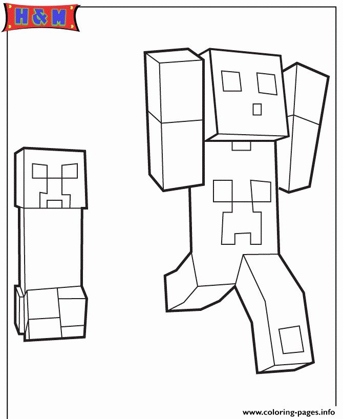 Minecraft Creeper Coloring Page Lovely Creeper Chasing Minecraft Player Coloring Pages Prin Coloring Pages Minecraft Coloring Pages Transformers Coloring Pages