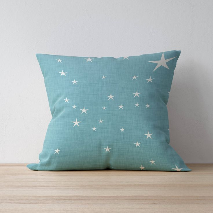 Excited to share the latest addition to my #etsy shop: Square Pillow, Decorative Pillow, Star pattern, Boy Room Throw Pillow, Kids Pillow Cushion, Home decor, Nursery Decor, Scandinavian pillow http://etsy.me/2BOjD8T #housewares #pillow #blue #toddler #white