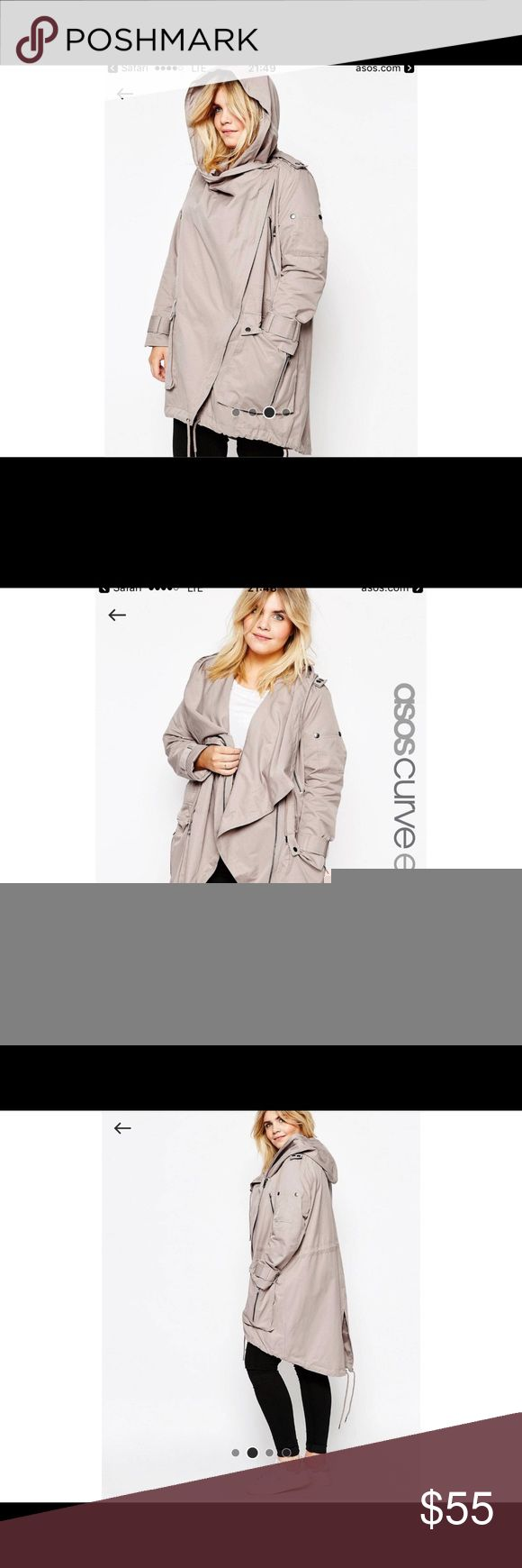 ASOS CURVE Parka with Waterfall and Storm Flap NWOT, I took the tag off before I tried it on lol ASOS Curve Jackets & Coats Capes