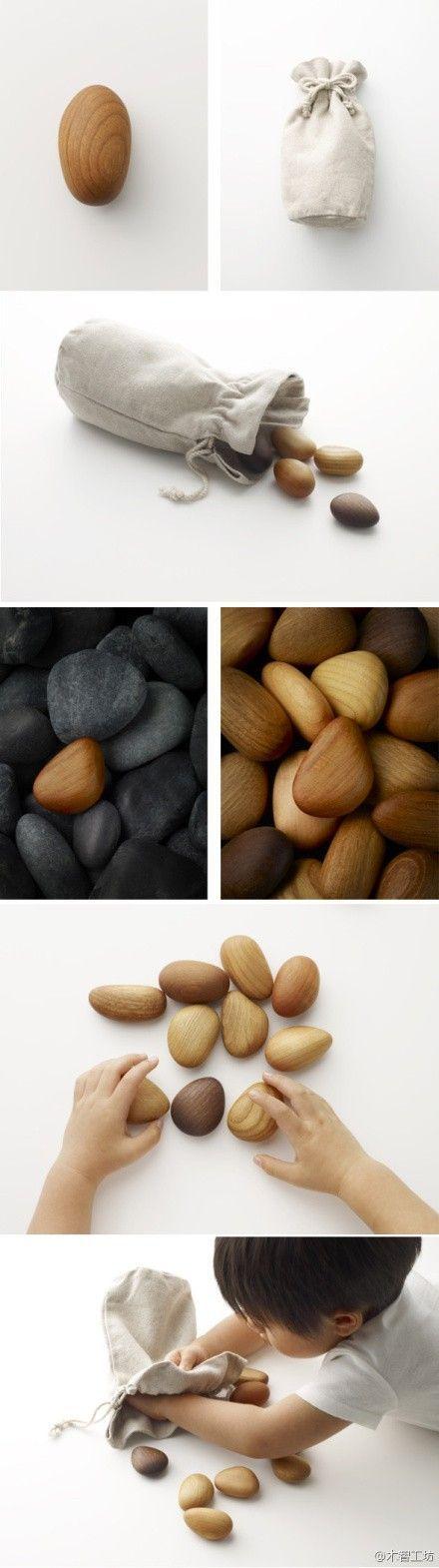 """""""Holzstein"""" Taku Satoh entwarf den Holzstein, der sorgfältig mit verschiedenen …"""