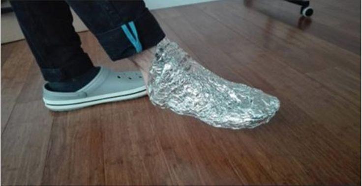 Envolva seus pés em papel alumínio e espere algumas horas - o que vai acontecer deixará você impressionado! | Cura pela Natureza