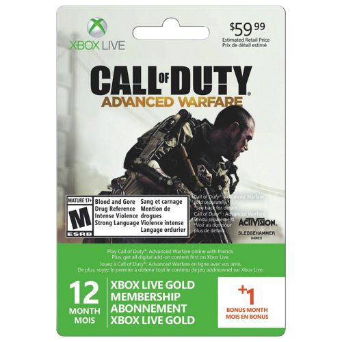 New!                         Xbox Live 12-Month Membership Card + 1 Bonus Month
