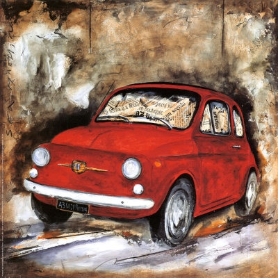 If a Fiat 500 were a picture in a child's storybook...