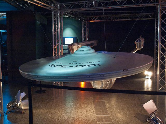 USS Enterprise - Refit Filming Model. Considered to be one of the most beautiful models ever to appear on film.
