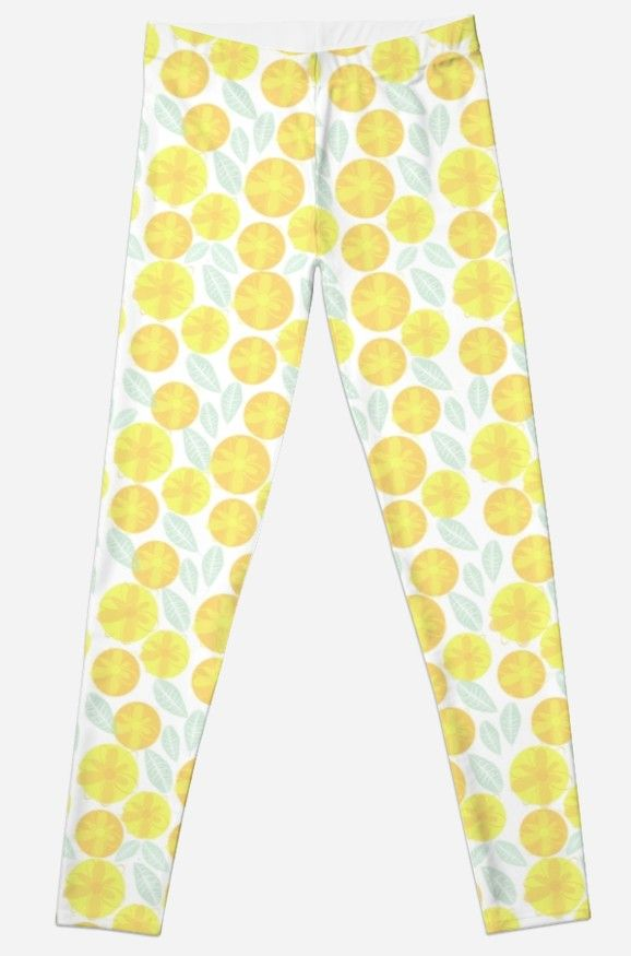 'Sunny Flowers' Leggings available at Red Bubble