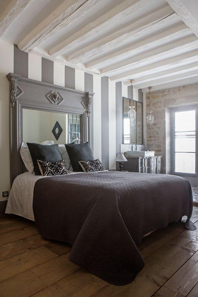 Antique, modern mix bedroom