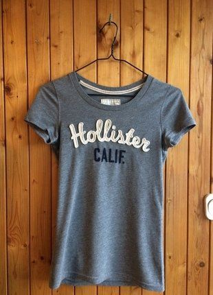 Kup mój przedmiot na #vintedpl http://www.vinted.pl/damska-odziez/koszulki-z-krotkim-rekawem-t-shirty/17021910-hollister-tshirt-koszulka-bluzka-szara-hit-must-have