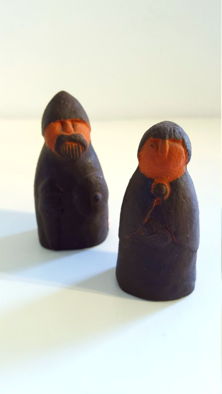 Vintage Thyssen Keramik Danmark Stone Viking Couple Figures.. Made in Denmark.. by fcollectables on Etsy