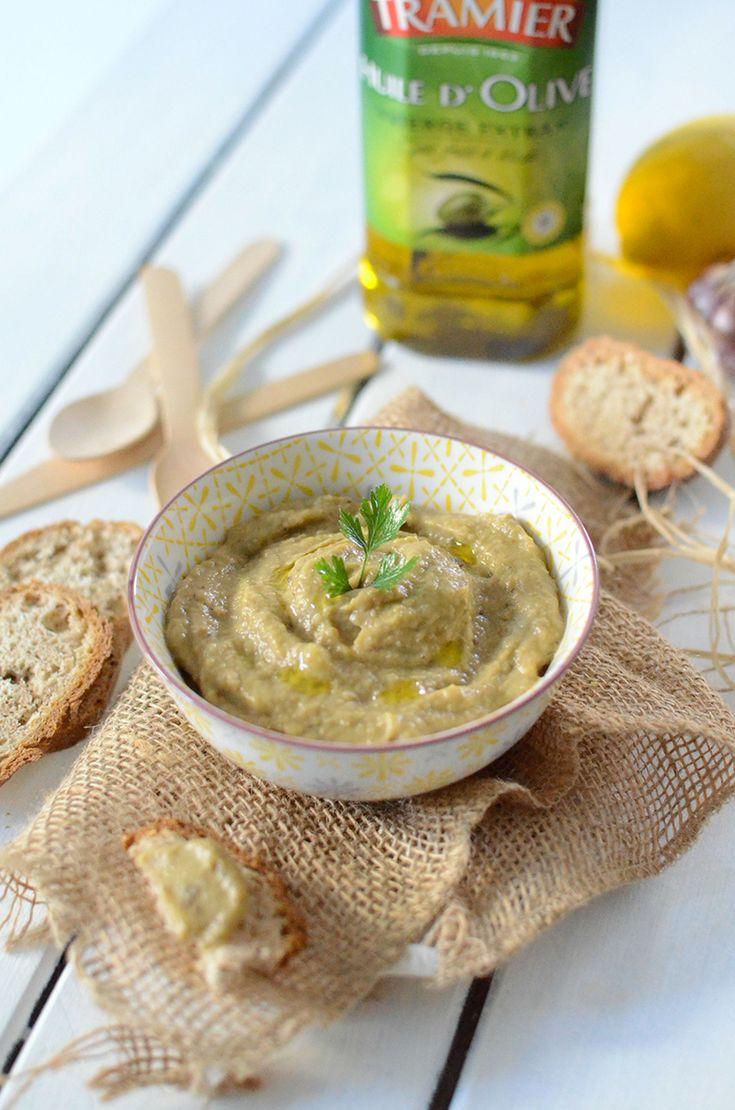 Caviar d'aubergine à l'huile d'olive #recette #apéro #apéritif #dinatoire #aubergine #ail #huile #olive #tramier #citron