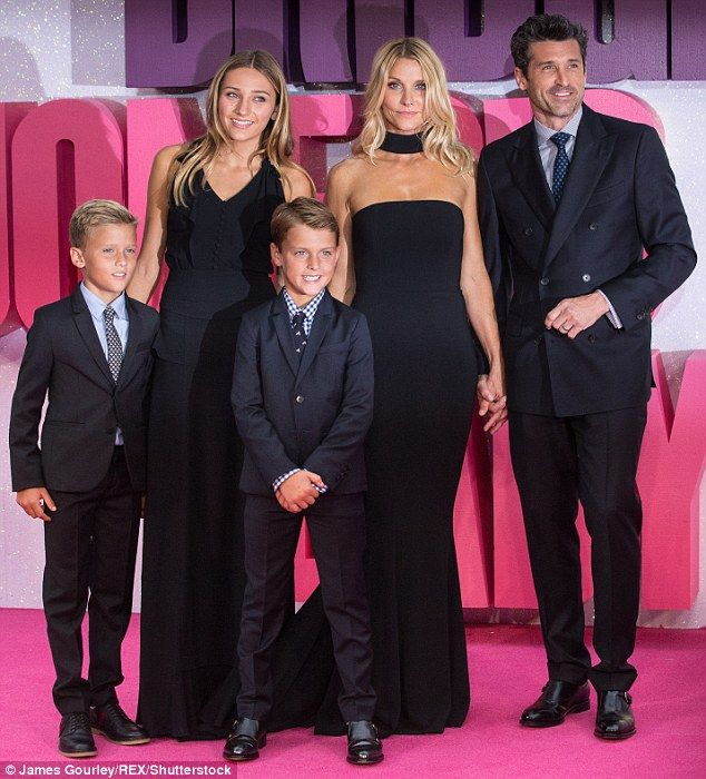 They have so much:Patrick and Jillian, who is a makeup artist, have been together for 15 years and have three children: 14-year-old daughter Talula, and twin sons Darby and Sullivan, aged eight