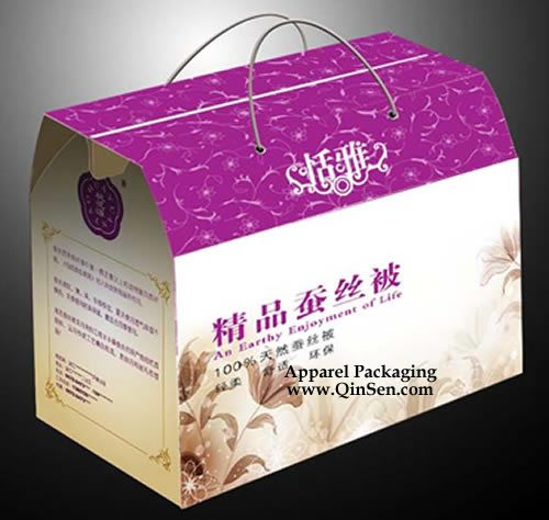 Custom Silk Quilt Packaging Box,Quilt Packaging Box ,OEM/ODM are welcome. www.qinsen.com