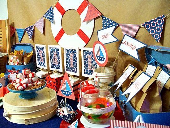 Nautica.l Party | http://amazingbirthdayideas.blogspot.com