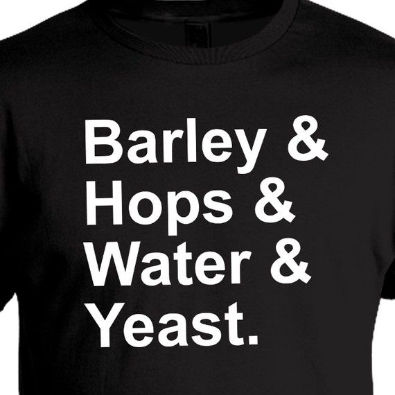 Barley Hops Water & Yeast  Oktoberfest Beer TShirt by brewershirts, $18.99