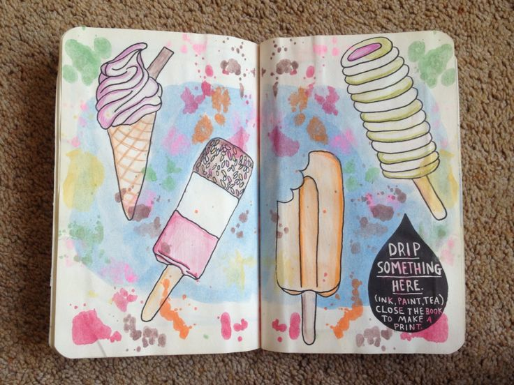 Drip something here wreck this journal page
