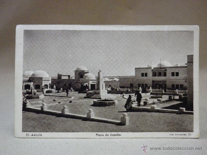 Postales: ANTIGUA POSTAL, Nº 72, AAIUN, PLAZA DE ESPAÑA, AFRICA OCCIDENTAL ESPAÑOLA, SIDI IFNI, 1956, ARTE - Foto 1 - 42650562