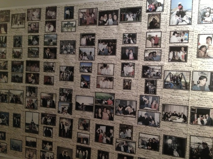 Mural de recuerdos para el 40 cumplea os copacabana for Pared de 15 ladrillo comun