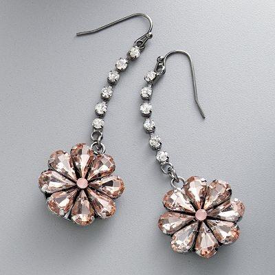 Simply Vera Vera Wang Jet Flower Drop Earrings: Vera Wang, Fancy Dress, Drop Earrings, Wang Jet, Flower Drop, Simply Vera