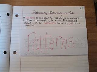 Math Journal- patterns