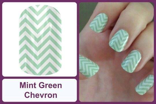 MINT GREEN CHEVRON Jamberry Nail Wraps #MintGreenChevronJN www.debsjaminails.jamberrynails.net