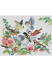 sandylandya@outlook.es  Bird Bath Cross-Stitch Pattern - Electronic Download