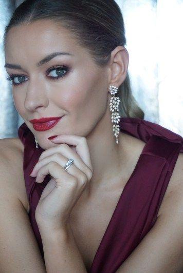 LILY & ROSE EARRINGS #jewellery #earrings #lilyandrose #asos #dress #red #oxblood #evening #blacktie