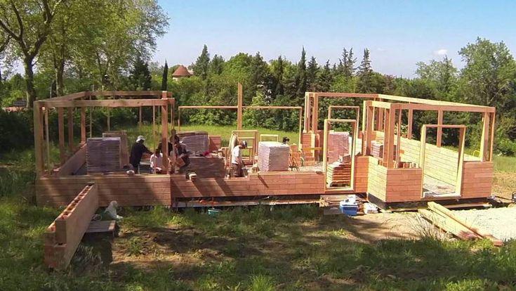 Brikawood, las casas de ladrillos de madera tipo LEGO que podrás construir tu mismo