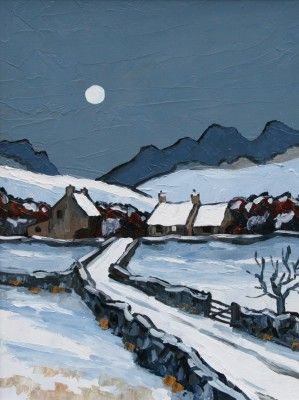 David Barnes - The Denbigh Moors in winter.