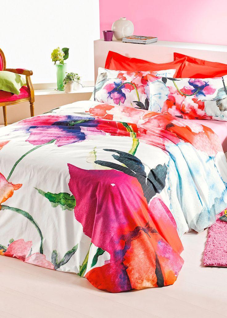 Teleria letto Flowers, Lenzuolo sotto, Singolo Rosa è ordinabile nello shop…