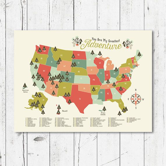 National Park Map Nursery, you are my greatest adventure print, digital file (JPEG) print any size between 5x7 and 16x20  This beautiful map makes the