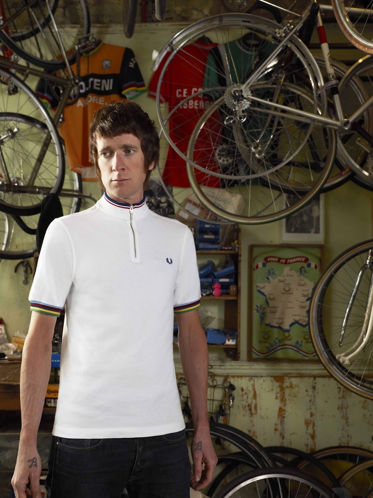 Mod  Bradley Wiggins x Fred Perry cycle jersey collaboration
