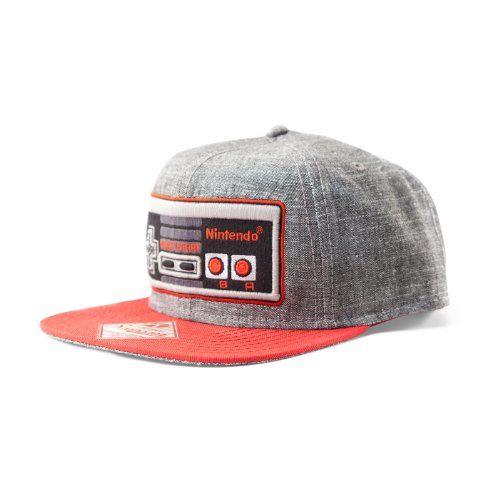 Casquette snapback Nintendo Manette de jeu: Casquette snapback Nintendo Manette de jeu gris & rouge, brodé, 100% coton. Taille ajustable.…