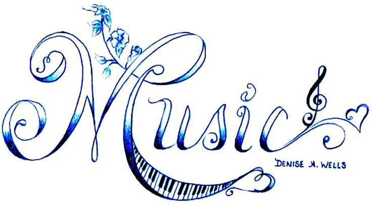 Music Love Treble Clef Tattoo Design by Denise A. Wellsattoo by Denise A. Wells photo MusicTattoo.jpg