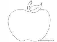 Halaman Mewarnai Gambar Buah Apel