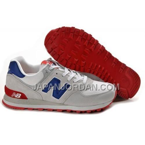 new balance 574 blue red
