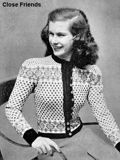 Teen fashion - a cardigan that would be considered ultra fashionable today!