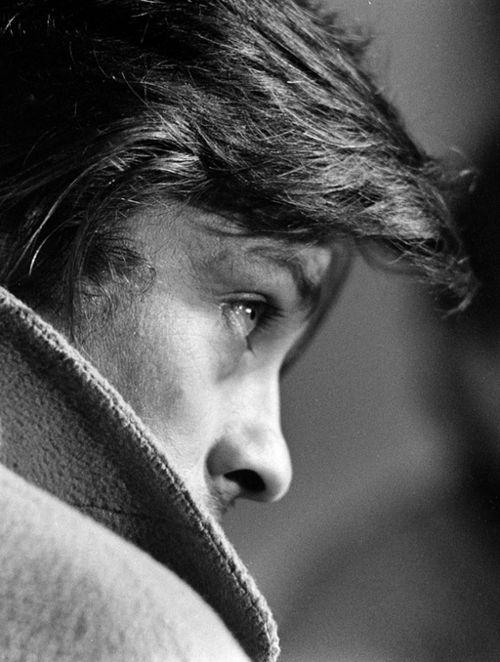 ♂ Black & white man portrait Alain Delon