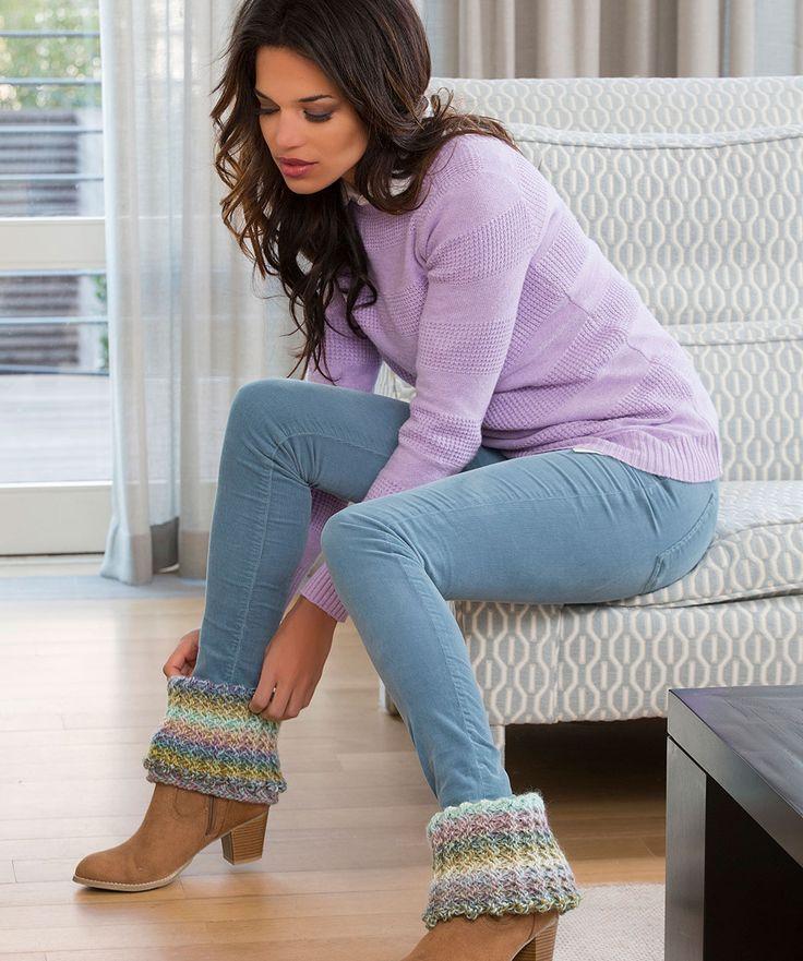 Warm Ribbed Boot Cuffs Crochet Pattern  #crochet  #redheartyarns  #bootcuffs