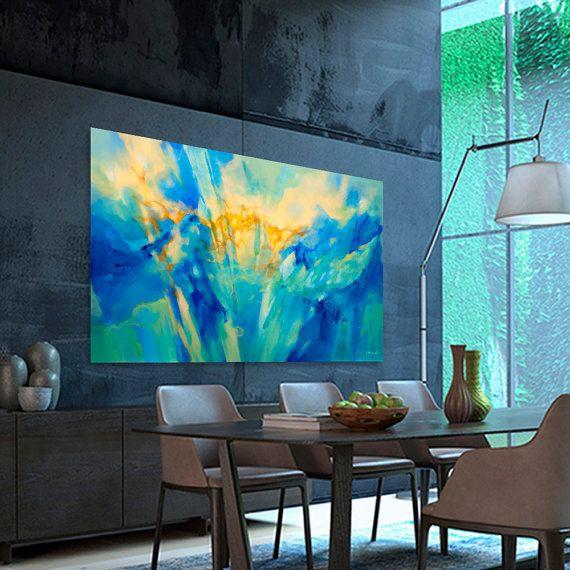 1000 ideas about pintura abstracta moderna on pinterest - Pintura azul turquesa ...
