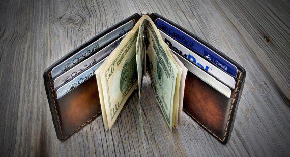Money Clip Wallet. Leather Money Clip Wallet. Leather Wallets