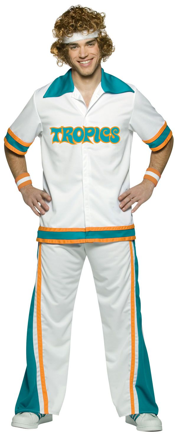 Adult Jackie Moon Warm-Up Flint Tropic Funny Costume