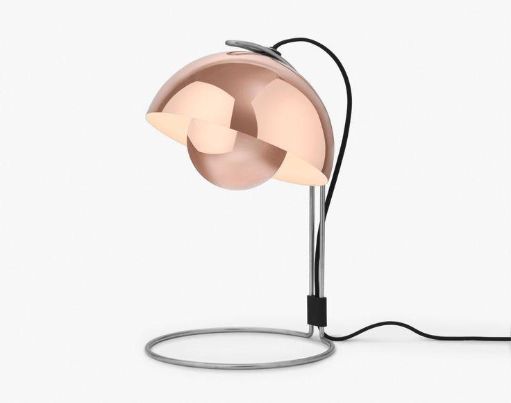 Stolní lampa FlowerPot VP4 od &tradition, měď