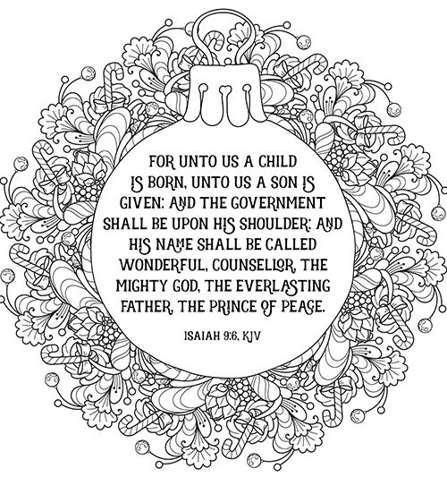 FREE PRINTABLE Christian Christmas Coloring Sheets With Bible Verses They Look So Pretty Framed From