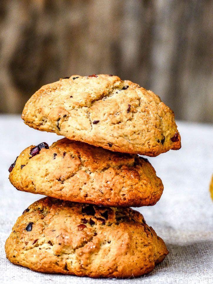 Cookies aux Fèves de Cacao & Cranberries {vegan, sans gluten}
