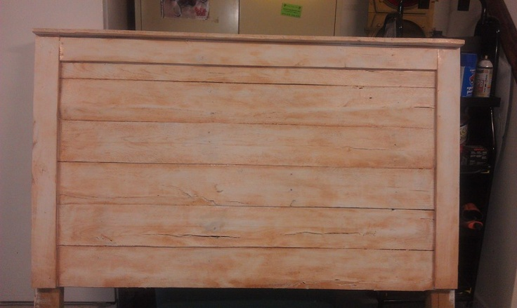 Diy wood pallet headboard my projects pinterest diy for How to make a wood pallet headboard