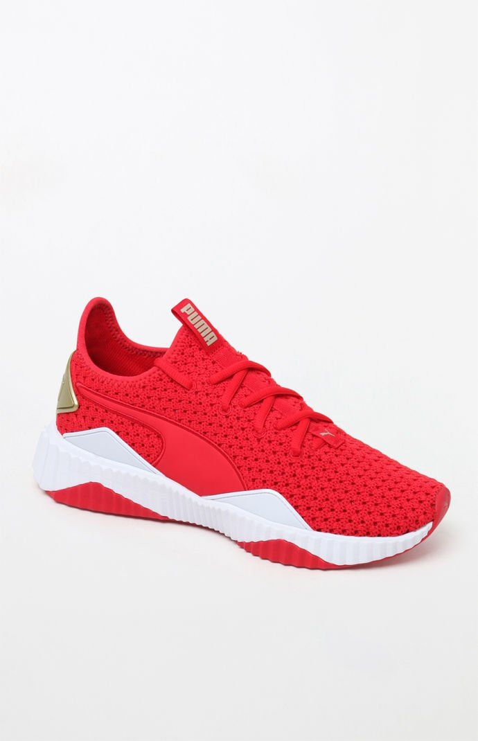 best service c6944 bb049 Women s Red Defy Sneakers   Crave List   Sneakers, Red sneakers, Sneakers  nike