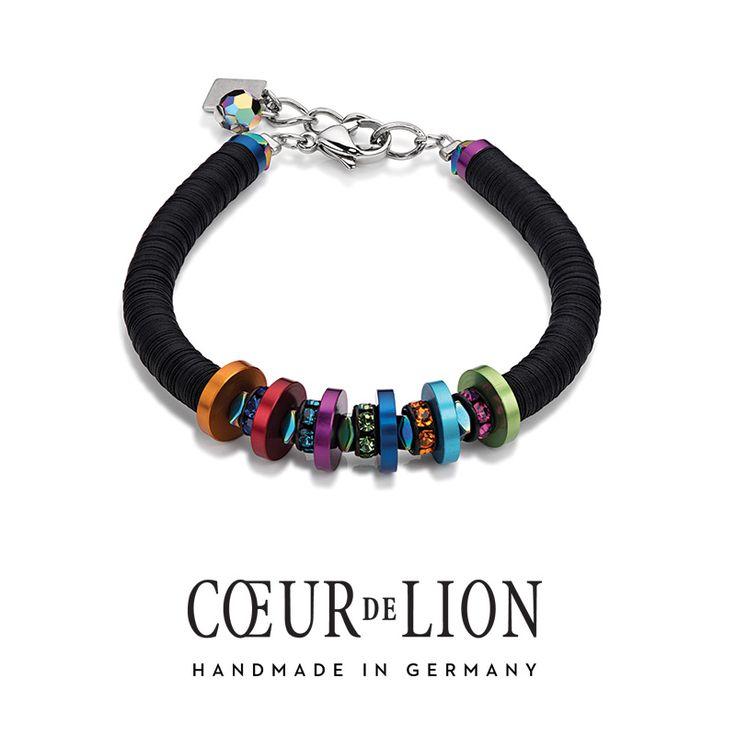 Coeur de Lion is known for their unique materials such is Diamond Cut Aluminium. We love how the colours pop on this bracelet.