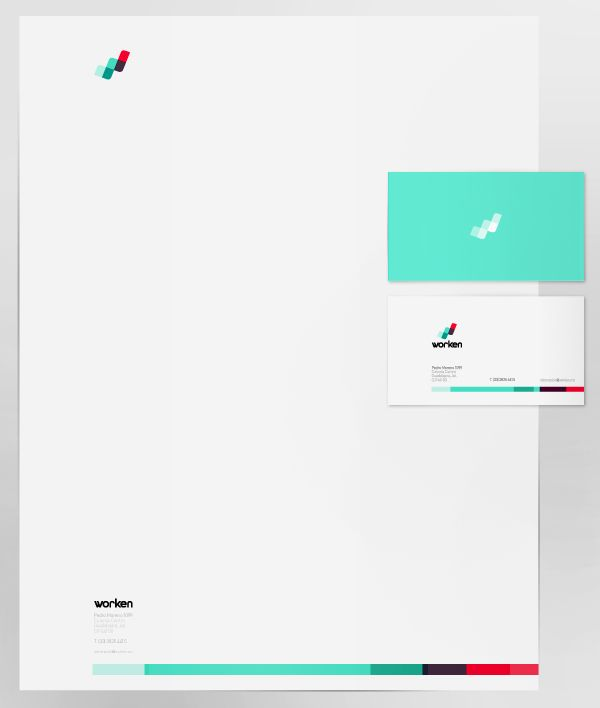Identidad Worken by PAOLA FLORES, via Behance