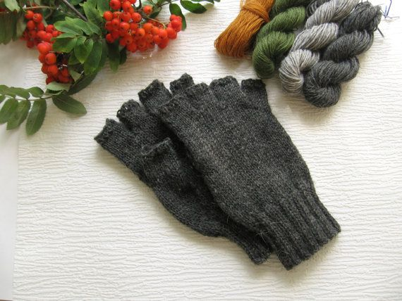 Men's winter gloves Fingerless warmest wool gloves for men