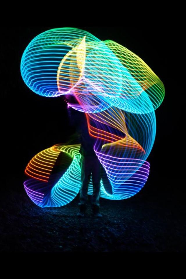 """""""Led hula hoop"""" And looks like a really slow capture speed. <3"""