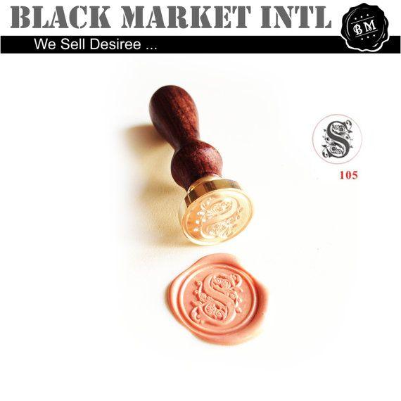 Wax Seal Stamp  Singal Alphabet Wax Seal  Wax by blackmarketintl, $11.99
